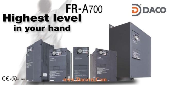 FR-A720-0.4K-0.75K Biến tần Mitsubishi 0.4kW, 0.75kW, 3 Pha 220 VAC: FR-A720