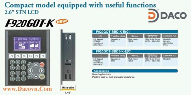 F920GOT-BBD5-K Màn hình cảm ứng HMI Mitsubishi F900 Series F920GOT-BBD5-K