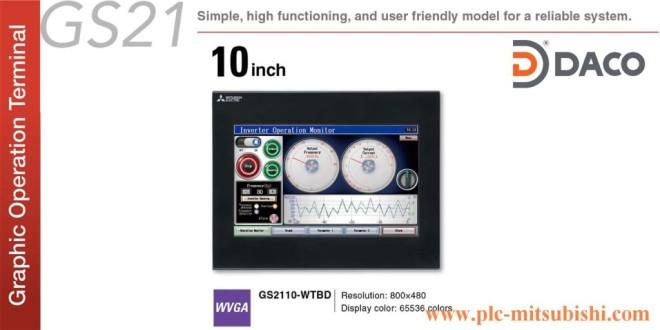 Màn hình cảm ứng HMI Mitsubishi GS2110-WTBD 10 Inch Màu