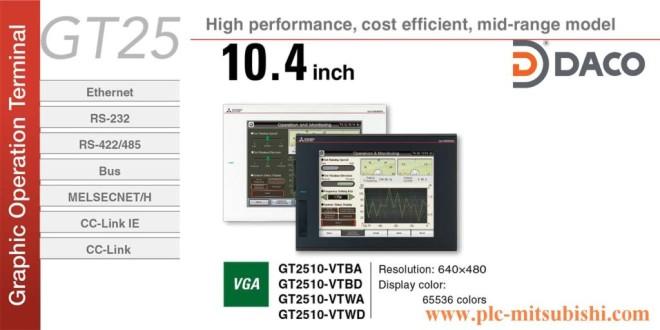 Thiết bị Màn hình HMI Mitsubishi GT2510 giá rẻ 10,4 Inch, Màu