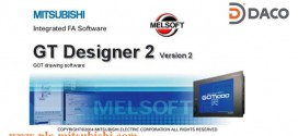 Phần mềm lập trình HMI Mitsubishi GT Designer 2