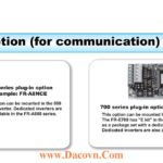 FR-700-800 Series Plug-in Option Communication